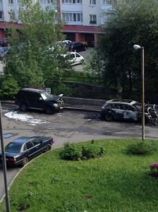 На Машиностроительной в Калининграде сгорел ЛЕксус